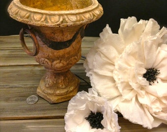 Vintage Shabby Chic Wedding Vase / Urn