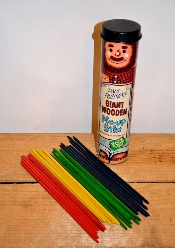 1978 Vintage Paul Bunyan Giant Wooden Pic Up Stix Classic Kids Game