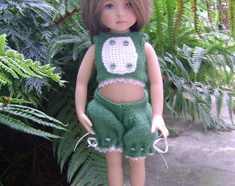 Sidonie : Outfit handknitted for Little Darling by Dianna Effner or Minouche by Sylvia Natterer doll 13''
