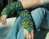 Made to order Crocodile Stitch Wrist Gauntlets
