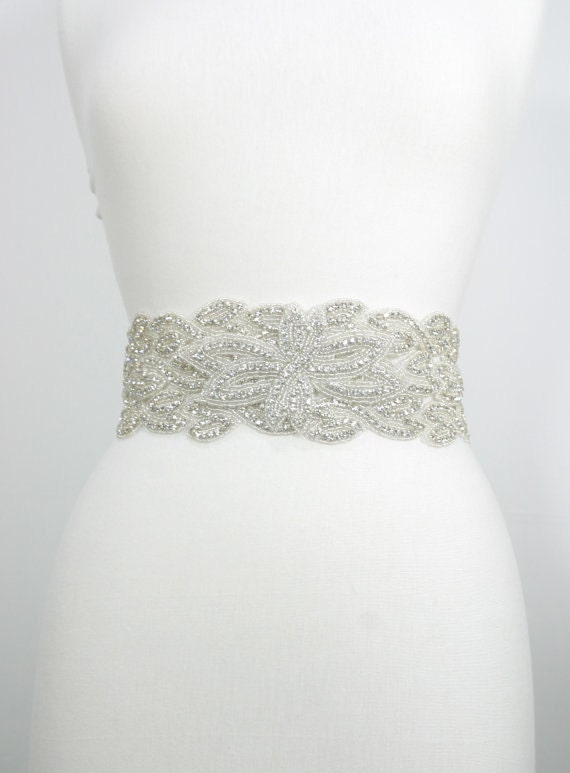 Bridal wedding sash,bridal gown belt,wide bridal belt,flower bridal sash,garden wedding,leaf belt,jeweled sash,crystal belt,beaded belt