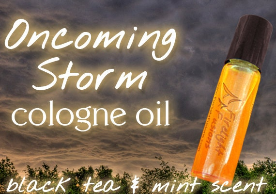 "Tenth Doctor Inspired Cologne - ""Oncoming Storm"" Black Tea & Mint Roll-On Fragrance - Dr. Who Series"