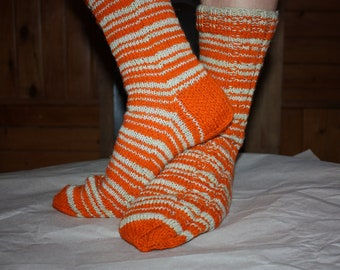 26,5 cm /// 10,4 inches Hand Knitted Socks, Slipper Socks - Unisex - US Men 8,5 /// US Women 10 /// EU 41 - 42