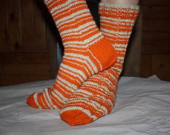 26,5 cm /// 10,4 inches Hand Knitted Socks, Slipper Socks - Unisex - US Men 8,5 /// US Women 10 /// EU 41 - 42