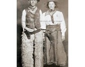 Cowboy Greeting Card - Cowgirl Wild West Performers - Cowboy Couple Note Card