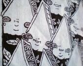 Original Artwork Silkscreen Back Patch - Anthropomorphic Cluster of Houses.