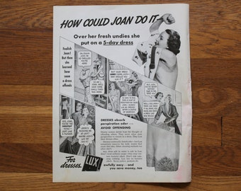 Vintage Lux Soap Ad / Style and Beauty Ad McCall's Magazine July 1937