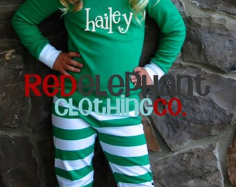 Monogrammed Christmas Pajamas, Kids Christmas Pajamas, Family Christmas Pajamas, Personalized Christmas Pajamas, Adult Christmas Pajamas