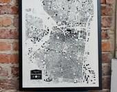 Philadelphia City Buildings Map Print