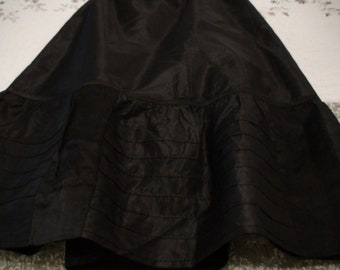 1920's Black Shantung Petticoat or Skirt, Handmade by my Great-Grandmother
