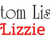 Custom Listing for Lizzie
