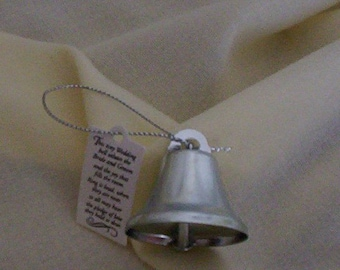 72 Bells DIY Bride groom fall Wedding reception favors silver bells bridal accessories craft supplies make your own favors party decor