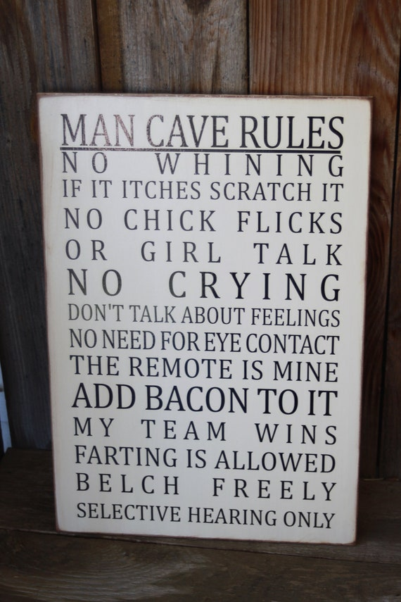 Man Cave Wall Art Ideas : Man cave rules customizable subway art wall hanging