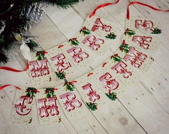 Merry Christmas Banner garland