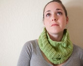 Crochet Cowl Scarf -SALE 50% OFF - Cowl Scarves - Green Cowl Scarf