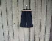 Double Ruffle Chambray Toddler Girls Denim Pants