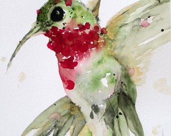 Hummingbird Art Large Archival Print