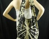 Black Tie Dye Bag Purse Sling Messenger Crossbody bag Buddha Hobo Hippie Celebrity Top Zip OAK VJ14