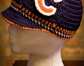 Chicago Bears Inspired Crocheted Baseball Cap (Teen - Adult Size) (Made to Order)