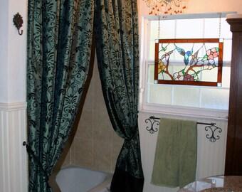 Ruffled Shower Curtain Whimsical Garden By Maribelclaribel