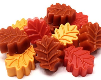 Autumn Leaves Soap  - Soap Favors - Cocoa Butter Soap - Set of 5 Soaps - Fall Winter - VEGAN