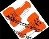 DIY Happy Halloween Printable Jack O Lantern French Fry Carton Favor Gift Box Orange and Black
