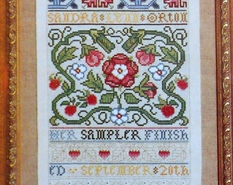 ENGLISH BAND SAMPLER Cross Stitch Pattern Antique Style Heirloom Quality by Sandy Orton - fam