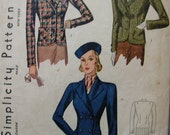 Fabulous Vintage 30's  Misses' Jacket Pattern SINGLE And DOUBLE BREASTED