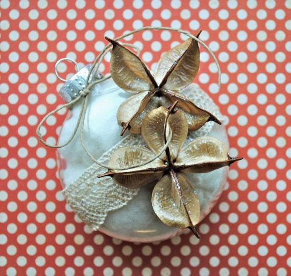 Cotton boll ornament christmas wedding decoration