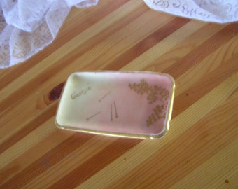 small trinket tray holds pins, bobby pins, jewelry made in France: Georgie