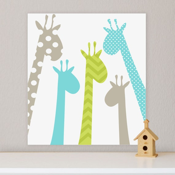Nursery Art For Children Kids Wall Art Baby Girl Nursery Baby: Giraffe Children's Wall Art Nursery Wall Art Giraffe