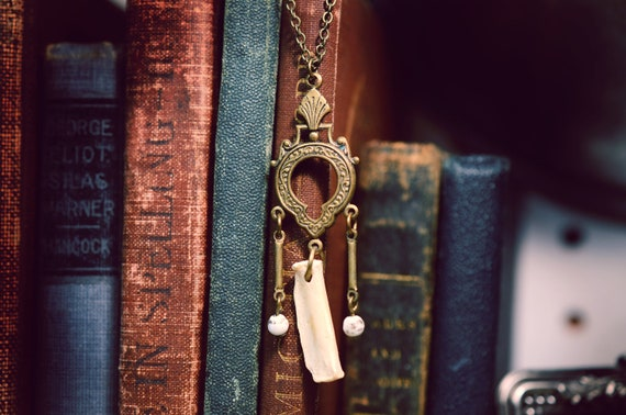 Victorian Style Small Animal Bone Necklace