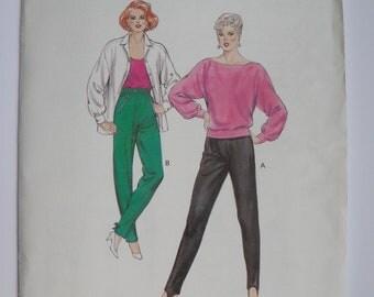 Stretch Pants Pattern Stirrup Leggings 1980s Pattern Kwik Sew 1492 6 - 12 Small