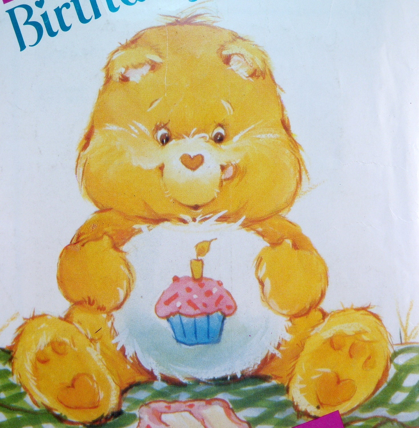 Care Bear Birthday Bear Pattern Vintage Butterick By