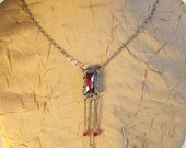 Sale - Red Finge Swarovski Crystal Necklace