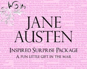 Jane Austen Themed Surprise Package, Itty Bitty Teeny Tiny Gift Pride & Prejudice Quotes