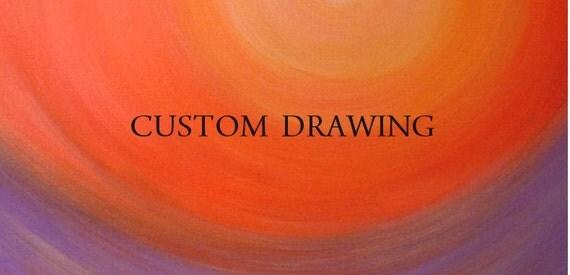 """r e s e r v e d  Original Pencil Drawing, size 5x7"""", matted size 8x10"""""""