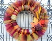 Autumn/ Fall Tulle Wreath- A MUST SEE