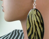 Zebra Printed Burned Earrings