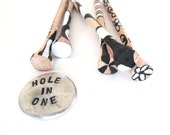 Golf gift black white design - hole in one, womens golf