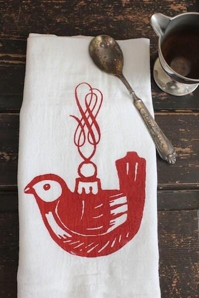 Christmas Kitchen Towel Holiday Gift Flour Sack