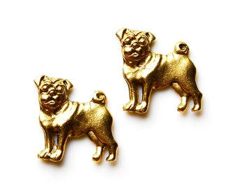 Pug Cufflinks - Gifts for Men - Anniversary Gift - Handmade - Gift Box Included