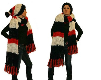 Extra Long Scarf and Hat Set
