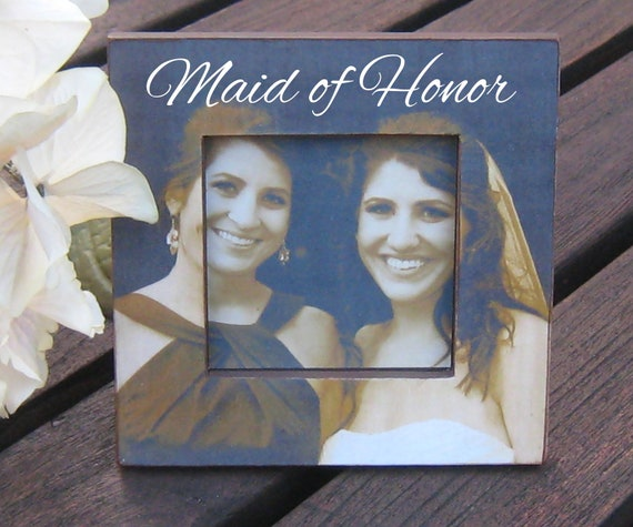 Maid Of Honor Gifts From Bride: Personalized Maid Of Honor Picture Frame Custom Wedding