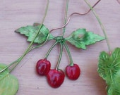 Cherry Red Cluster  (2 pc)