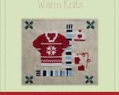 Warm Knits - A Cross Stitch Pattern by Kaye Prince of Miss Print