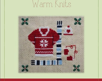 Warm Knits - A Cross Stitch Pattern by Kaye Prince of Miss Print