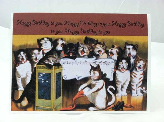 vintage birthday cats cat - photo #27