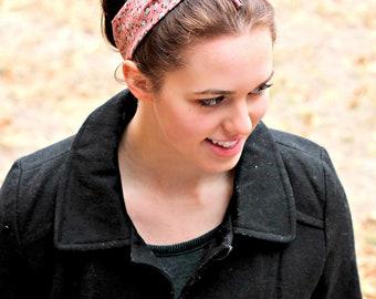 Boho Bow Tie Headband Housewife Style Stretch Elastic Vintage Headband Pin up Bow Tie Headscarf