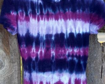 Flowing Colors Purple Cap Sleeve Tee